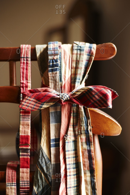 Ribbons on the back of a chair