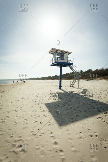 Lifeguard's Cabin at beach