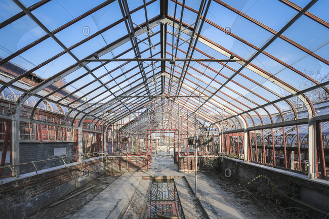 Greenhouse in disrepair - Offset Collection