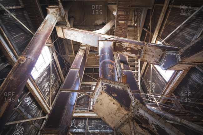 Vents of an abandon warehouse