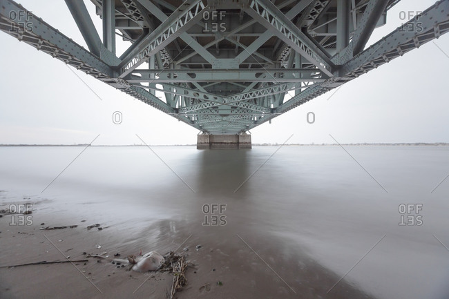 Underneath a bridge to the Rockaways