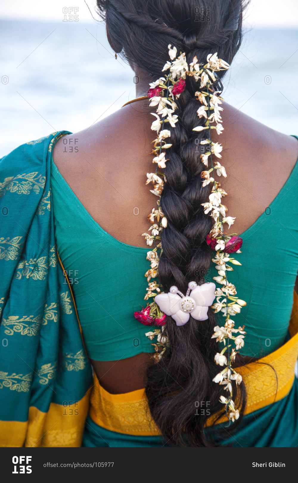 Womans hair decorated with jasmine flowers pondicherry india have any questions izmirmasajfo