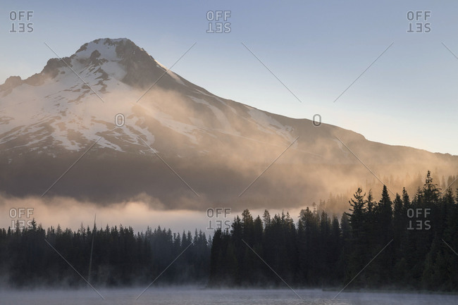 Foggy morning in Mount Hood National Forest, Oregon