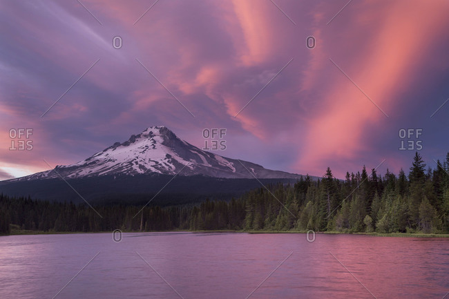 Sunset at Mount Hood, Oregon
