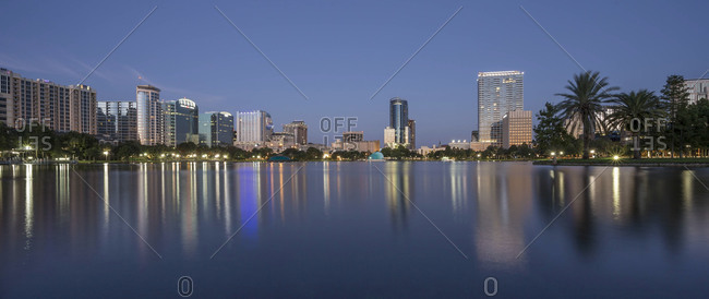 Orlando skyline at dawn, Florida