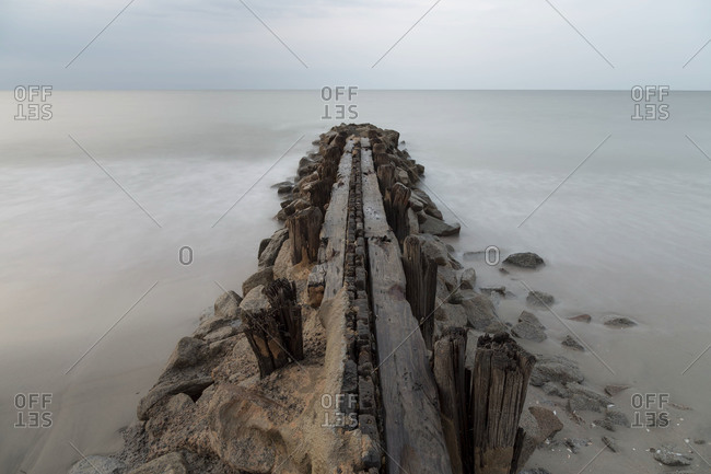 Jetty at Edisto Island, South Carolina