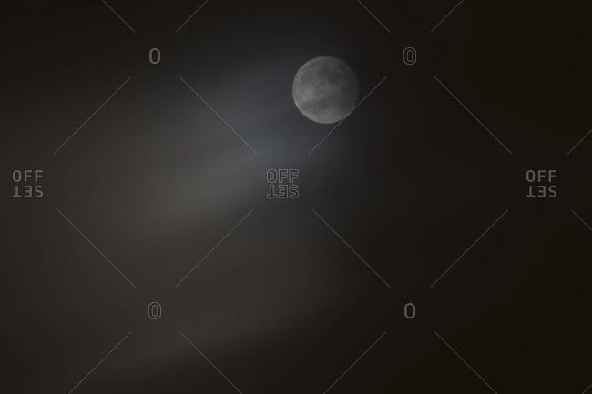 Full moon on a dark sky