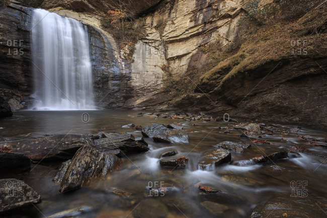 Looking Glass Falls near Brevard, North Carolina in the Pisgah National Forest