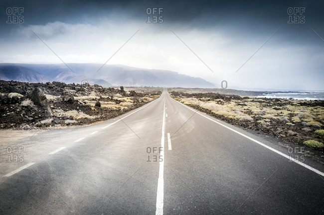 Road near Orzola, Lanzarote, Canary Islands