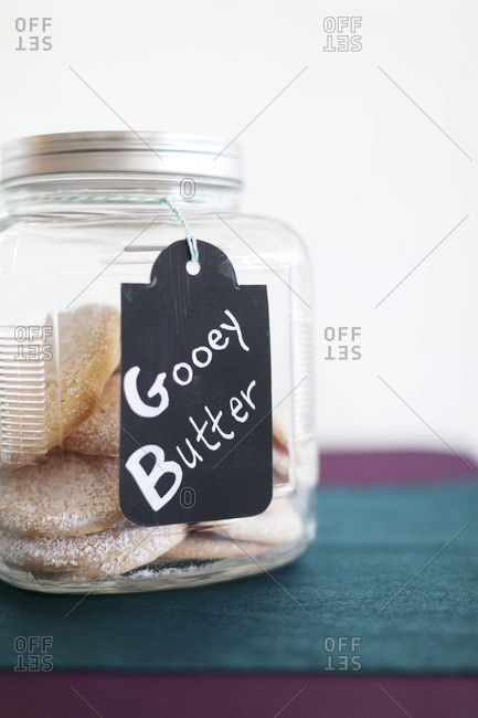 Gooey butter cookies in a jar