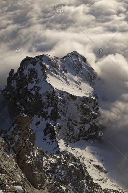 Dachstein Mountains, Mountain peak and clouds, Styria, Austria