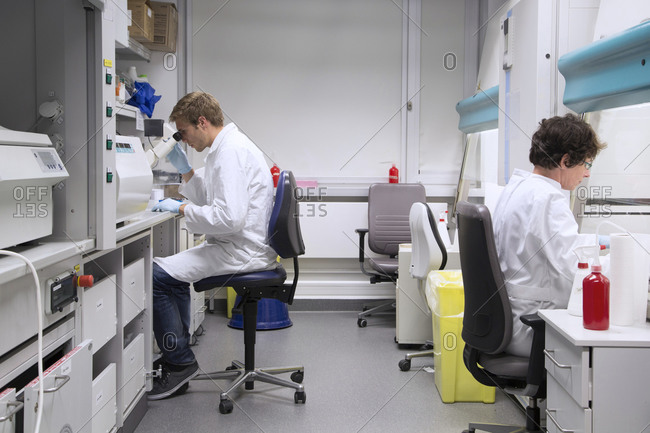 Scientist in a biological lab