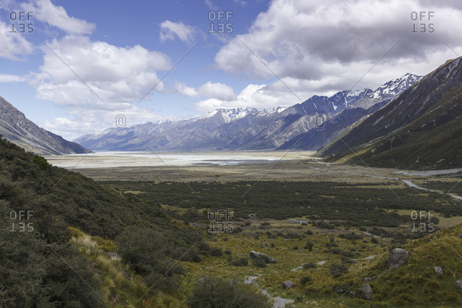 View to Mount Cook National Park, New Zealand