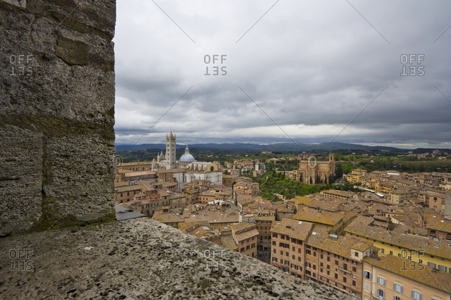 View from Torre del Mangia to Siena Cathedral