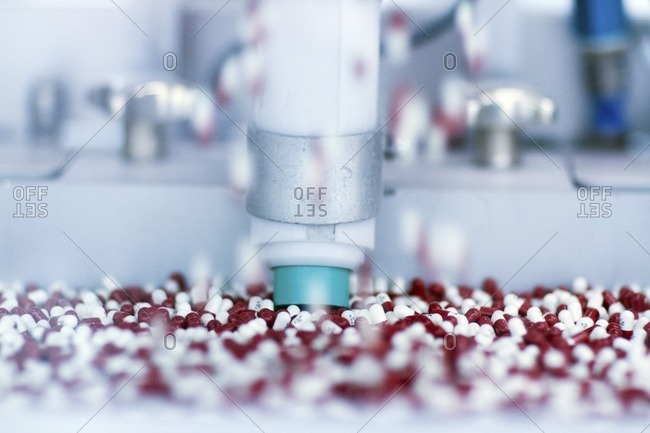 Drugs being produced at a pharmaceutical production plant