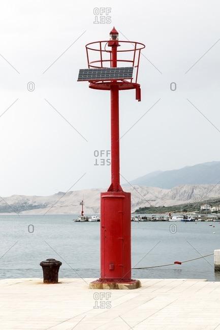 Solar powered lighthouse, Croatia