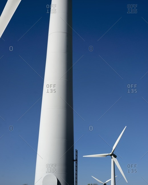 Wind turbines, North Wales