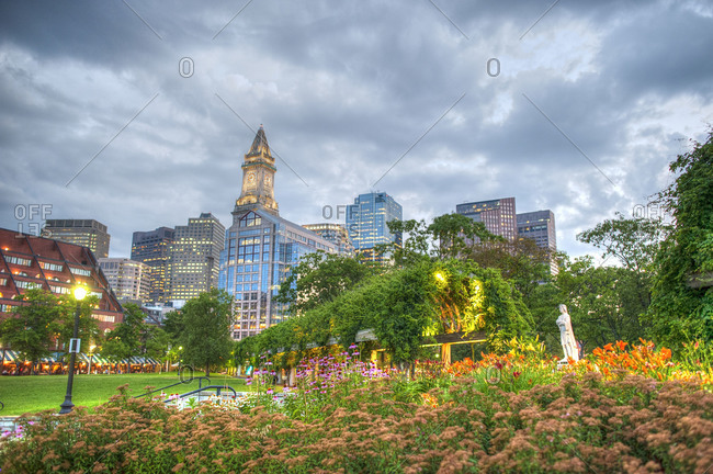 Christopher Columbus waterfront park in Boston