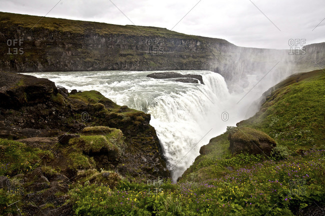 View of Gullfoss Waterfall