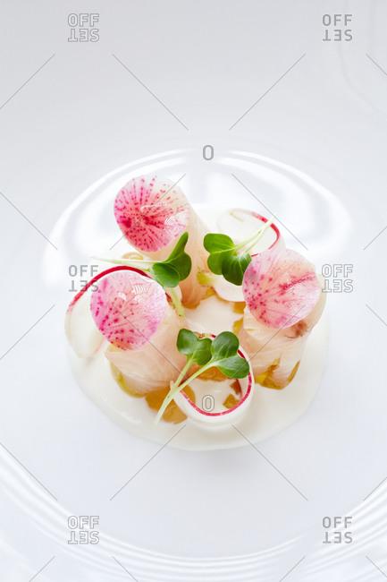 Close up of sashimi