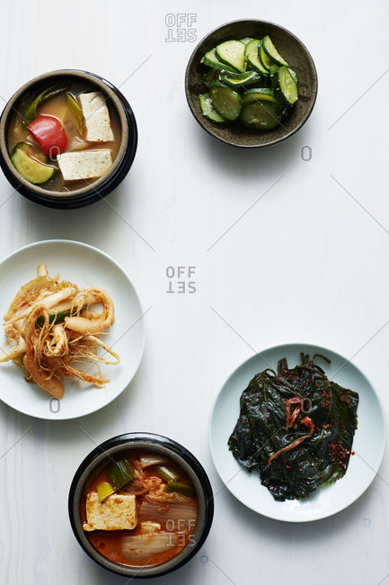 Kimchi with pickled vegetables