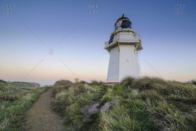 Waipapa Point Lighthouse at sunset, the Catlins, South Island, New Zealand