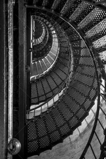 Currituck lighthouse staircase, North Carolina
