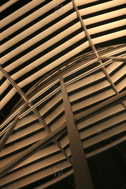 Close up view of an exterior part a modern building