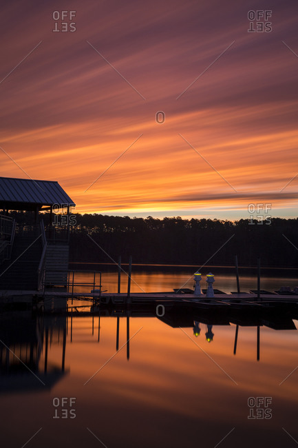 Sunrise at Lake Johnson, Raleigh, North Carolina