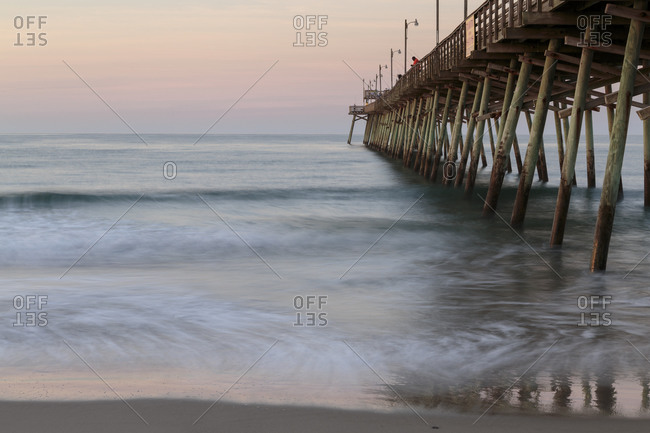 View of Bogue Inlet Pier, Emerald Isle, North Carolina
