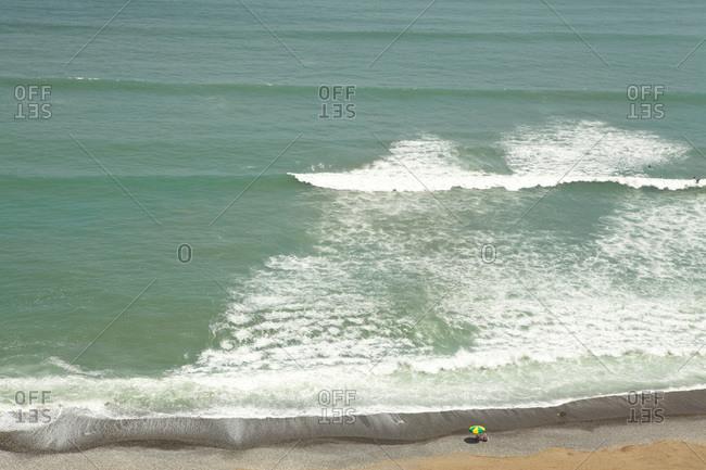 Views of ocean and beach, Miraflores, Lima, Peru