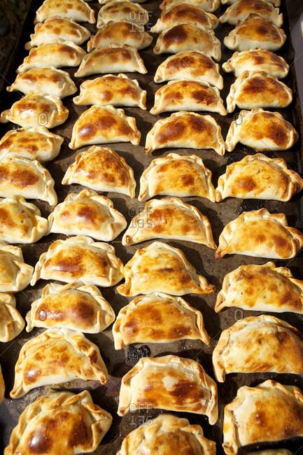Tray of empanadas