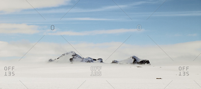 Mountains at Skalpanes on the Langjokull glacier in west Iceland