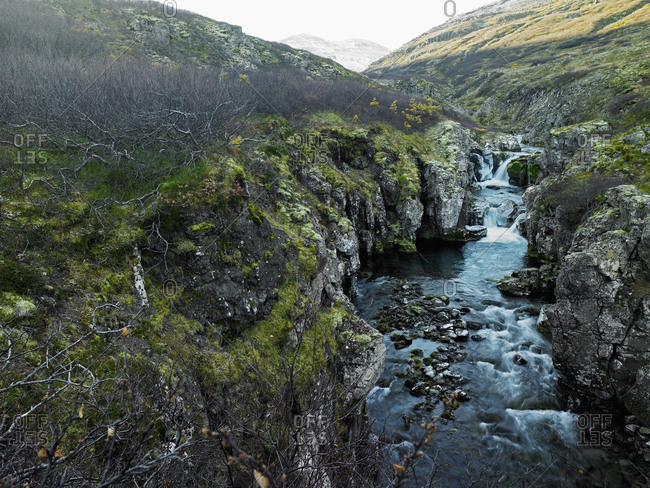 Small river in the Westfjords of Iceland