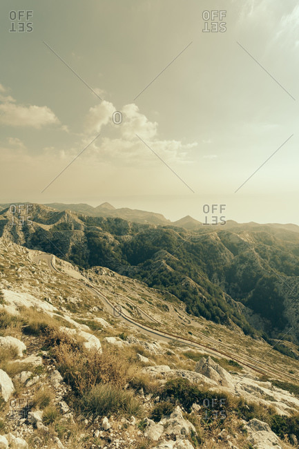 View from Sveti Jure, Biokovo, Dalmatia, Croatia