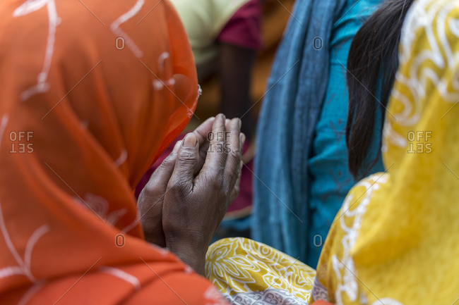 Christian women praying in India