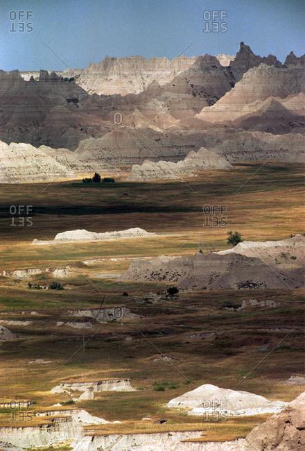 Landscape of Badlands National Park, South Dakota