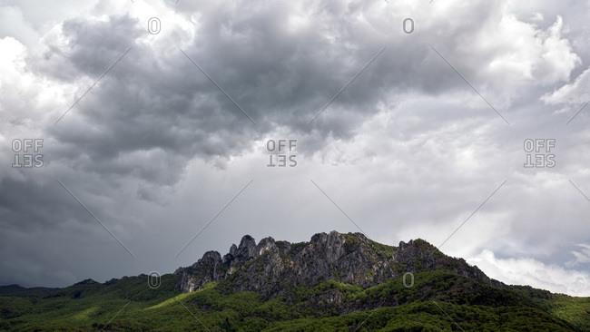 Landscape of Mountain Denti della Vecchia, Sonvico, Ticino, Switzerland
