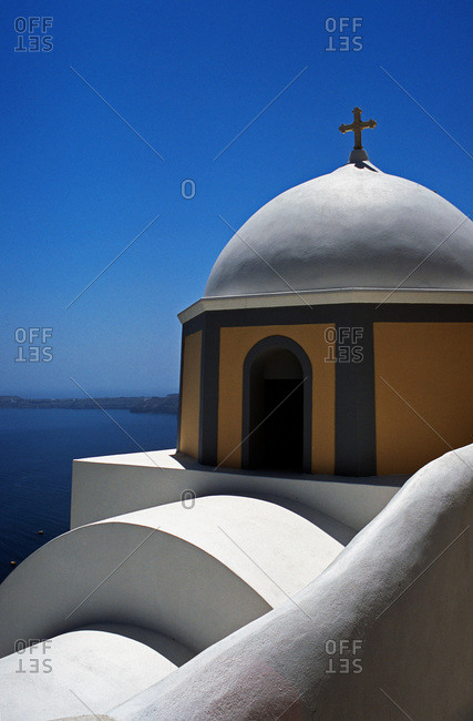 The Roman Catholic Cathedral of St John the Baptist, in Fira, Santorini