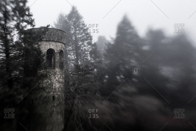Pennsylvania, United States - January 13, 2013: Tower in Longwood Gardens, USA