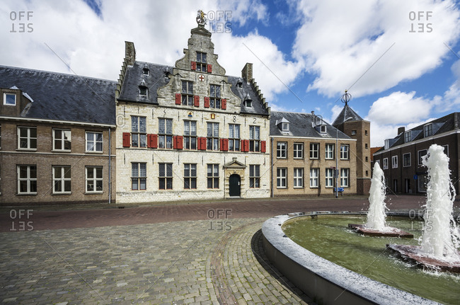 Old building, St Jorisdoelen, Middelburg, Zeeland, Netherlands