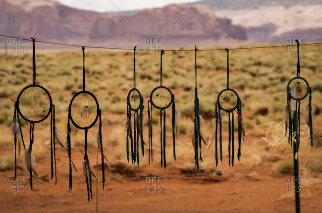 Native American dreamcatchers for sale in Monument Valley, Utah, United States