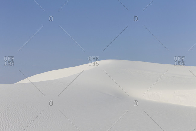 Sand dune in White Sands National Park, New Mexico, USA.