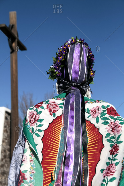 Matachine dancer in Alcalde, New Mexico, United States