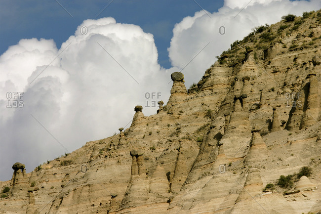 Landscape of Cochiti Pueblo, Tent Rocks Park in New Mexico, USA