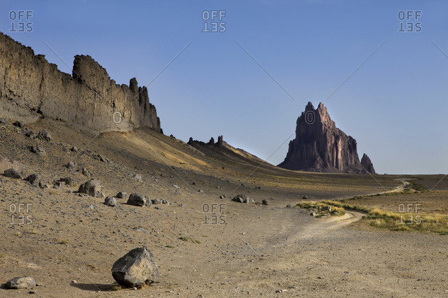 The Shiprock rock formation in New Mexico