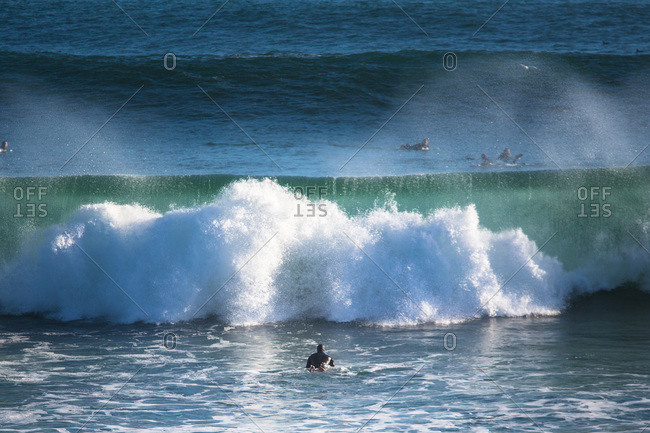 A large wave breaking