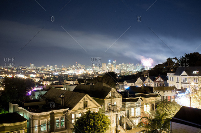 July 4th Fireworks in San Francisco, USA