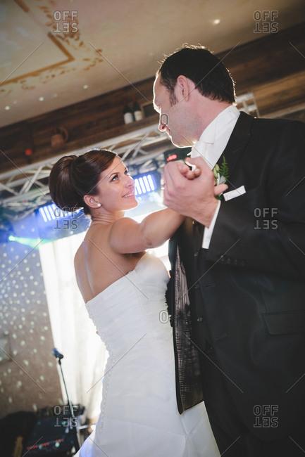 Newlyweds share first dance