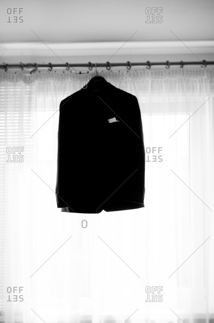 Jacket hanging by the window